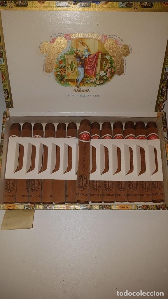 ANTIGUA CAJA DE PUROS HABANOS ROMEO Y JULIETA 25 CORONITAS EN CEDRO (14 HABANOS) AÑO 2007. (Coleccionismo - Objetos para Fumar - Cajas de Puros)