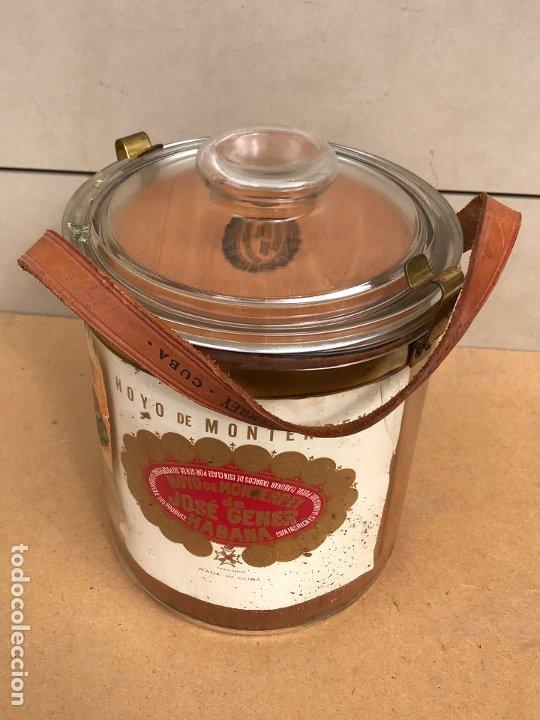 Cajas de Puros: Tarro de cristal Hoyo de Monterrey Jose Gener La Habana Cuba - Cristales nº 1 50 - Foto 3 - 180388181