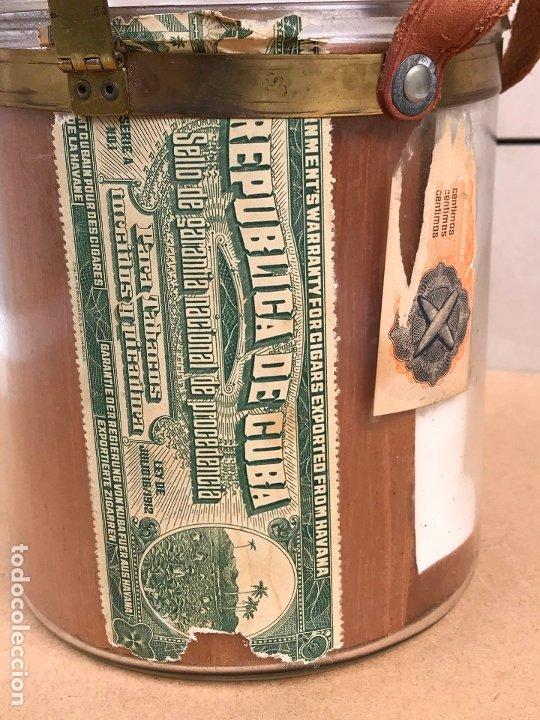 Cajas de Puros: Tarro de cristal Hoyo de Monterrey Jose Gener La Habana Cuba - Cristales nº 1 50 - Foto 6 - 180388181