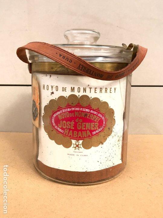TARRO DE CRISTAL HOYO DE MONTERREY JOSE GENER LA HABANA CUBA - CRISTALES Nº 1 50 (Coleccionismo - Objetos para Fumar - Cajas de Puros)