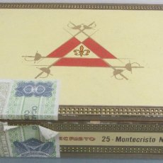 Cajas de Puros: CAJA DE PUROS MONTECRISTO N.4 CON 3 PUROS.. Lote 180446065