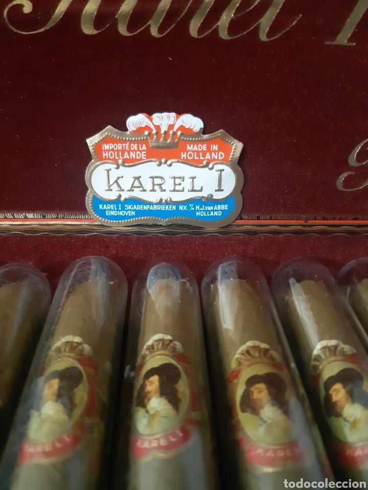 Cajas de Puros: CAJA DE HABANOS KAREL I CON 10 SIGAREN AMARILLO - Foto 2 - 180495055