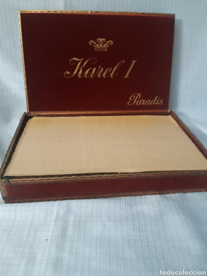 Cajas de Puros: CAJA DE HABANOS KAREL I CON 10 SIGAREN AMARILLO - Foto 4 - 180495055