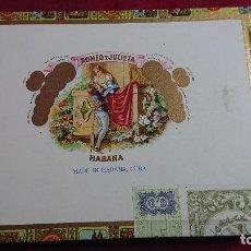 Cajas de Puros: CAJA DE PUROS PRECINTADA ROMEO Y JULIETA HABANA CUBA 10 TUBOS DE ALUMINIO PARA ROMEO Nº1. Lote 180500231