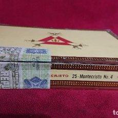 Cajas de Puros: CAJA PUROS VACIA MONTECRISTO Nº 4 HABANA CUBA. Lote 180501273