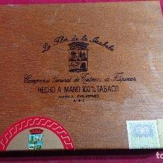 Cajas de Puros: CAJA PUROS LA FLOR DE LA ISABELA SABOR HECHO A MANO MANILA FILIPINAS - VACIA -. Lote 180501812