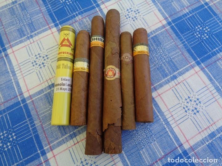 LOTE DE 6 PUROS DE LA HABANA : CUBA ---- COHIBA - MONTECRISTO - RAMON ALLONES (Coleccionismo - Objetos para Fumar - Cajas de Puros)