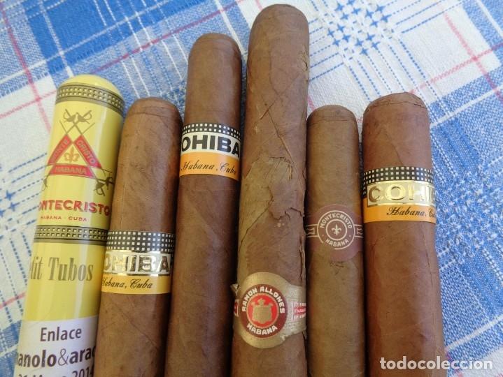 Cajas de Puros: LOTE DE 6 PUROS DE LA HABANA : CUBA ---- COHIBA - MONTECRISTO - RAMON ALLONES - Foto 2 - 180932741