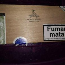 Cajas de Puros: CAJA DE PUROS VACÍA. MONTECRISTO. 25 MONTECRISTO PETIT EDMUNDO. Lote 180952705