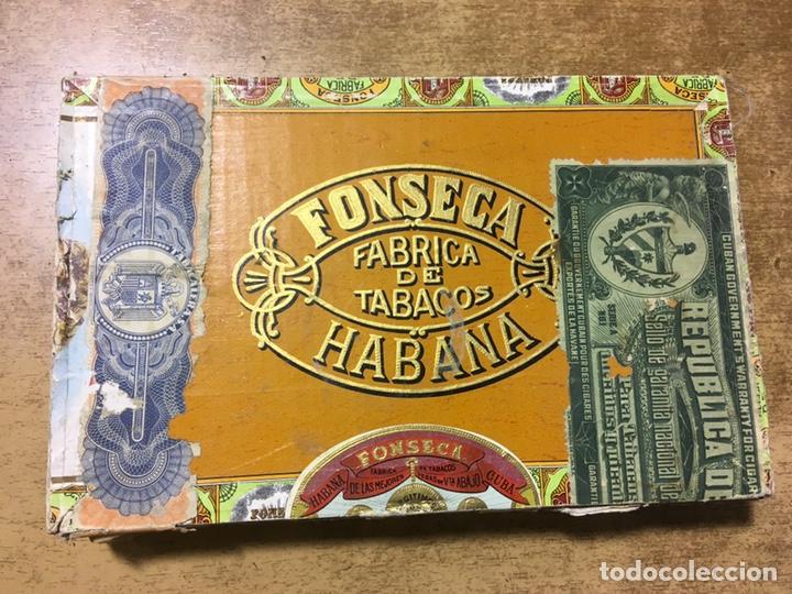 Cajas de Puros: CAJA PUROS FONSECA - 25 FORTUNAS - MADE IN HAVANA - CUBA - DEPOSITO SANTANDER - Foto 3 - 181123587