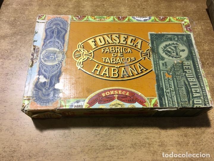 CAJA PUROS FONSECA - 25 FORTUNAS - MADE IN HAVANA - CUBA - DEPOSITO SANTANDER (Coleccionismo - Objetos para Fumar - Cajas de Puros)