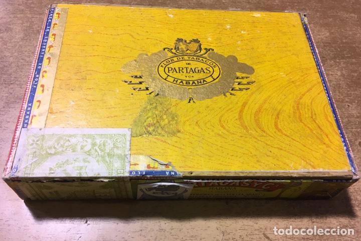 CAJA FLOR DE TABACOS DE PARTAGAS - 25 HABANEROS - HABANA - PUROS (Coleccionismo - Objetos para Fumar - Cajas de Puros)