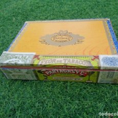 Cajas de Puros: CAJA DE PUROS PARTAGAS 25 SUPER PARTAGAS HABANA CUBA CON 13 PUROS. Lote 181189216