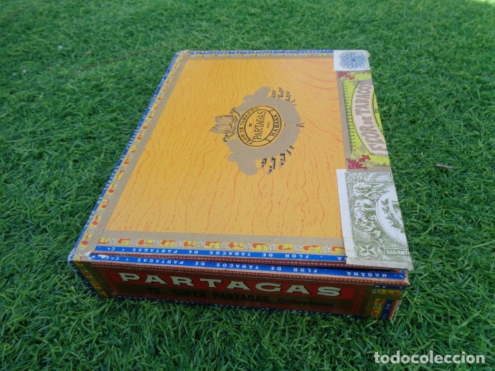 Cajas de Puros: Caja de puros Partagas 25 super partagas habana cuba con 13 puros - Foto 6 - 181189216