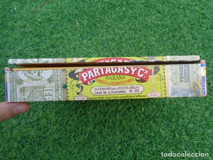Cajas de Puros: Caja de puros Partagas 25 super partagas habana cuba con 13 puros - Foto 8 - 181189216