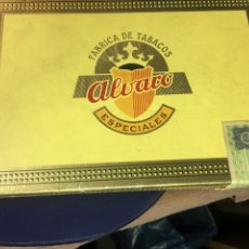Cajas de Puros: CAJA DE PUROS CON 7 PUROS ALVARO SALUDOS CERRADOS - 1 ALVARO RANGER CERRADO -1MANILA ROSALES SIN ENV. Lote 181337115