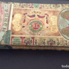 Cajas de Puros: ANTIGUA CAJA DE LA FÁBRICA DE TABACOS CUBANA PUNCH - MANUEL LÓPEZ FERNANDEZ - 25 CAPRICHOS. Lote 181347970