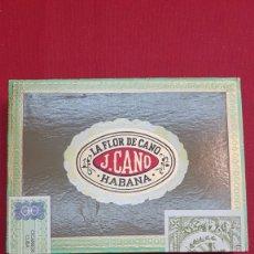 Cajas de Puros: MAGNIFICA Y ANTIGUA CAJA DE PUROS HABANOS LA FLOR DE CANO PREFERIDOS (PRECINTADA AÑO 1962). Lote 181790621