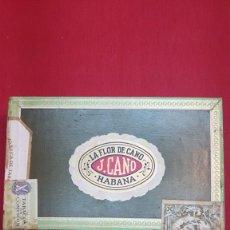Cajas de Puros: MAGNIFICA Y ANTIGUA CAJA DE PUROS HABANOS LA FLOR DE CANO PETIT CORONAS (PRECINTADA AÑO 1971). Lote 181791260