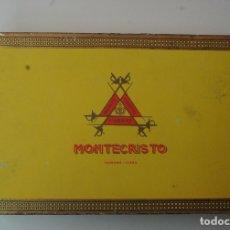 Cajas de Puros: CAJA DE PUROS MONTECRISTO 25 - Nº 4 HABANA ABIERTA LA CAJA PERO COMPLETO.. Lote 182199257