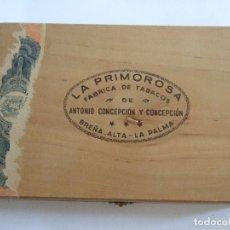 Cajas de Puros: CAJA DE PUROS VACIA - DE MADERA - LA PRIMOROSA - 25 PETIT CETROS - LA PALMA - 22X15X3,5. Lote 182307307
