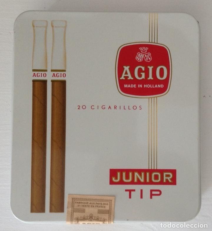 CAJA COMPLETA CIGARRILLOS PUROS MARCA AGIO JUNIOR TRIP (Coleccionismo - Objetos para Fumar - Cajas de Puros)