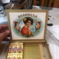 Cajas de Puros: CAJA DE PUROS BARONESA CON 3 TABACOS - VER LAS FOTOS. Lote 182551188