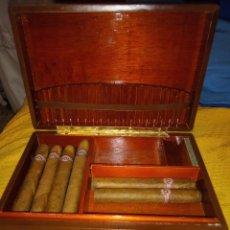 Cajas de Puros: PUROS HABANOS MONTECRISTO + CAJA DE PIEL. Lote 182585003