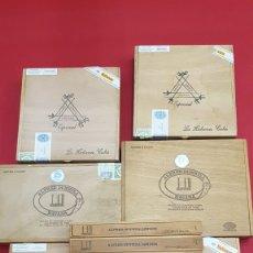 Cajas de Puros: INCREIBLE LOTE DE NUEVE CAJAS DE PUROS HABANOS DUNHILL Y MONTECRISTO ESPECIAL.. Lote 182614267