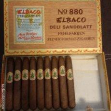 Boîtes de Cigares: CAJA DE PUROS ELBACO N°880 CON 9 PUROS. Lote 182807998