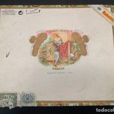 Cajas de Puros: CAJA ROMEO Y JULIETA VACÍA. Lote 182834883