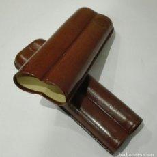 Cajas de Puros: ESTUCHE PURERA PARA 2 PUROS PIEL 350 NUEVO. Lote 182905302