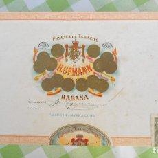 Cajas de Puros: ANTIGUA CAJA DE PUROS HUPMANN DE LA HABANA - CUBA.. Lote 182961320