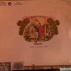 Cajas de Puros: CAJA ROMEO Y JULIETA VACÍA. Lote 183064295