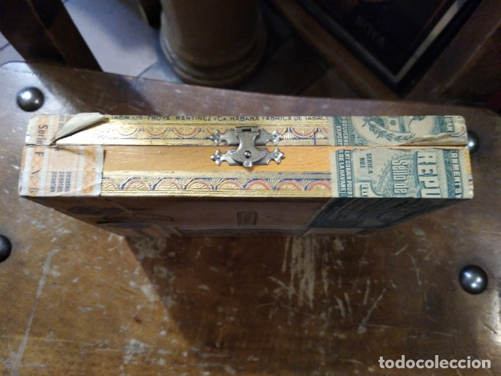 Cajas de Puros: Caja madera fabrica de tabacos Troya. Martínez y cía. Habana. Cuba. - Foto 2 - 183073051