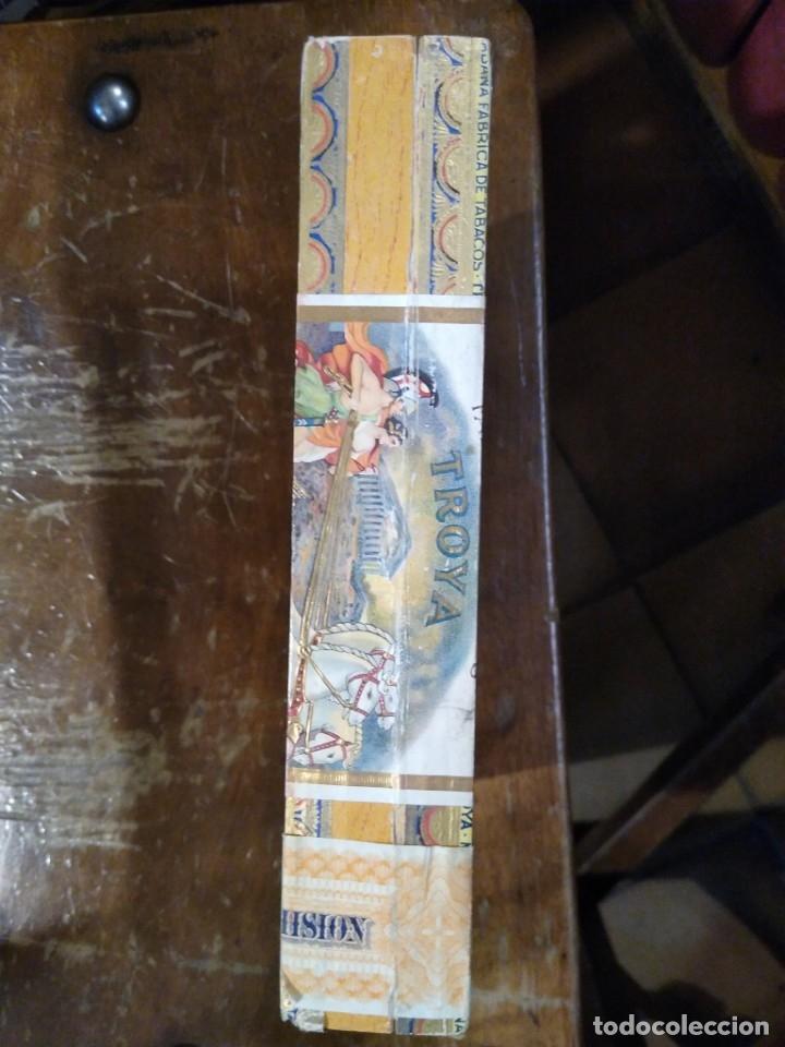 Cajas de Puros: Caja madera fabrica de tabacos Troya. Martínez y cía. Habana. Cuba. - Foto 4 - 183073051