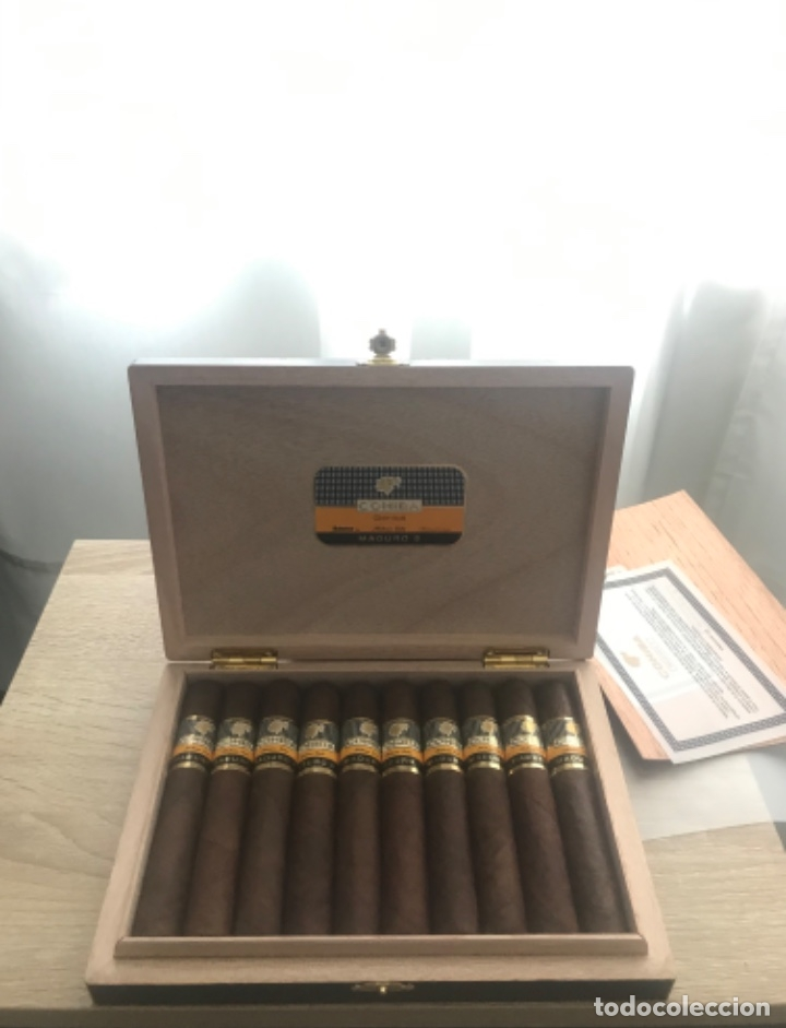 COHIBA MADURO 5 GENIOS. CAJA DE (10) (Coleccionismo - Objetos para Fumar - Cajas de Puros)