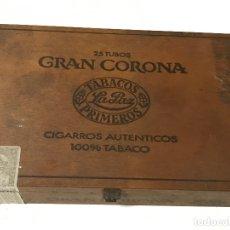 Cajas de Puros: CAJA PARA PUROS GRAN CORONA TABACOS LA PAZ PRIMEROS.. Lote 183205197