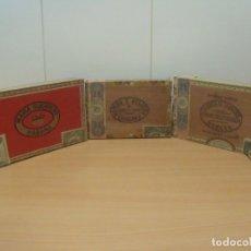 Cajas de Puros: TRES ANTIGUAS CAJAS DE PUROS ( VACIAS ) ROMEO Y JULIETA FARACH MARIA GUERRERO. Lote 183251471