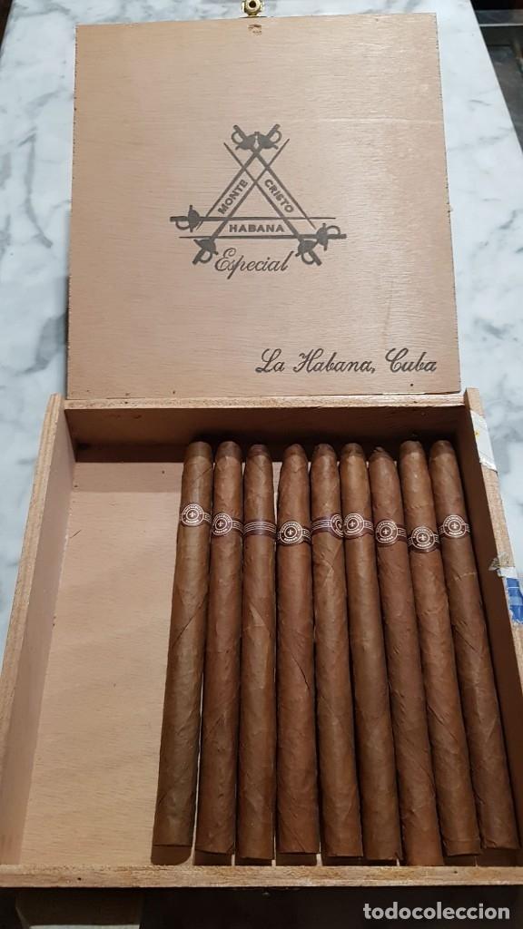 MAGNIFICA CAJA DE HABANOS MONTECRISTO ESPECIAL (9 UNIDADES). (Coleccionismo - Objetos para Fumar - Cajas de Puros)