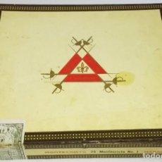Cajas de Puros: CAJA DE PUROS MONTECRISTO HABANA Nº1 - VACÍA. Lote 183499935