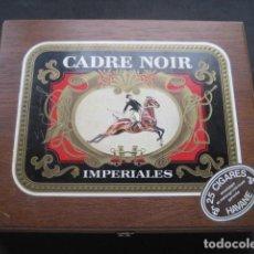 Cajas de Puros: CAJA DE PUROS CADRE NOIR IMPERIALES HAVANA (VACIA). Lote 183616453