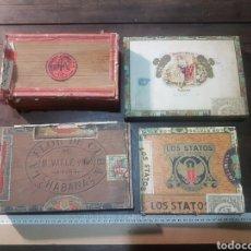 Cajas de Puros: 5 CAJAS VACÍAS DE PUROS. Lote 183722138