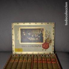 Cajas de Puros: CAJA DE PUROS 10 UNIDADES SUN CORONAS FLOR DE CORONAS TABACOS PRIMEROS. Lote 183738057