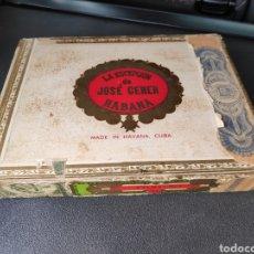 Cajas de Puros: CAJA PUROS HABANOS JOSE GENER CON 14 PUROS. Lote 183991096