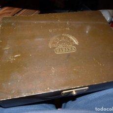 Cajas de Puros: RARA CAJA VACIA H. UPMANN SIR WINSTON PUROS HABANOS CUBA BARNIZ MARRÓN OSCURO COLECCIÓN. Lote 184145581