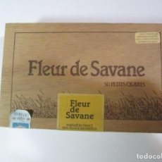 Cajas de Puros: CAJA FLEUR DE SAVANE 50 PETITS CIGARES. Lote 184200952