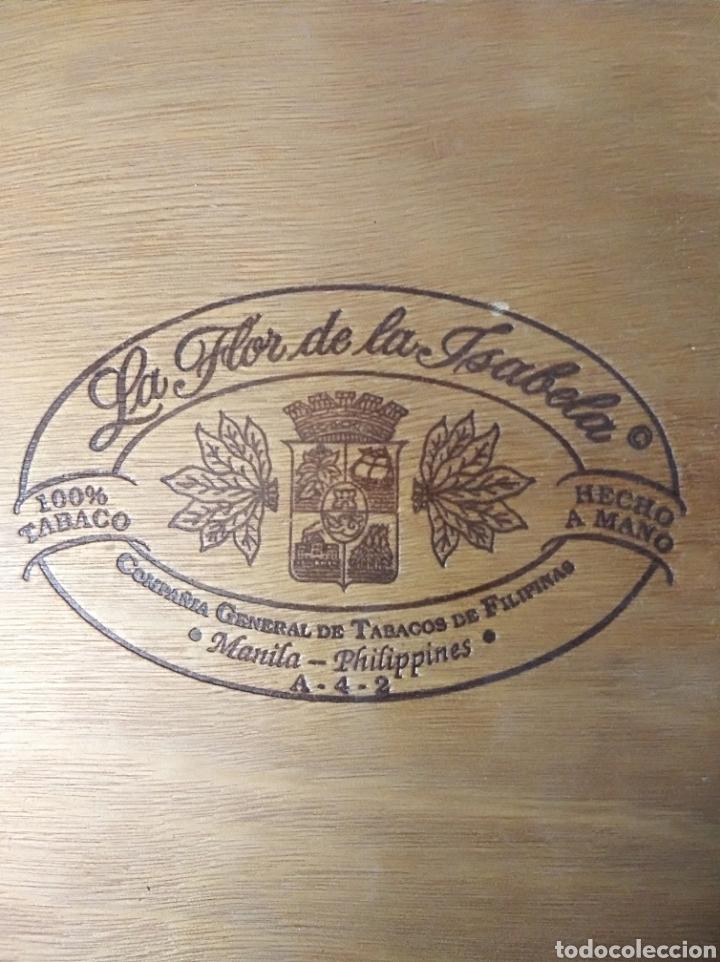 Cajas de Puros: Caja puros La Flor de la Isabella tabaco vacía madera vintage - Foto 3 - 184292010