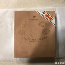 Cajas de Puros: CAJA COHIBA SELECCIÓN ROBUSTOS - VACIA. Lote 184480572