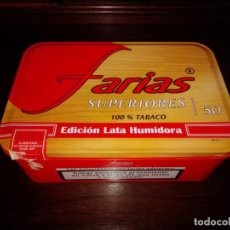 Cajas de Puros: ANTIGUA Y ORIGINAL CAJA METÁLICA DE PUROS FARIAS EDICIÓN LATA HUMIDORA. Lote 184762827
